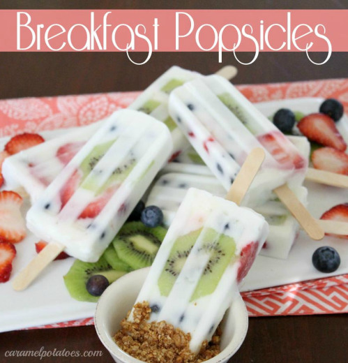 Popsicle, Breakfast, Healthy Kids, Fruit and Yogurt